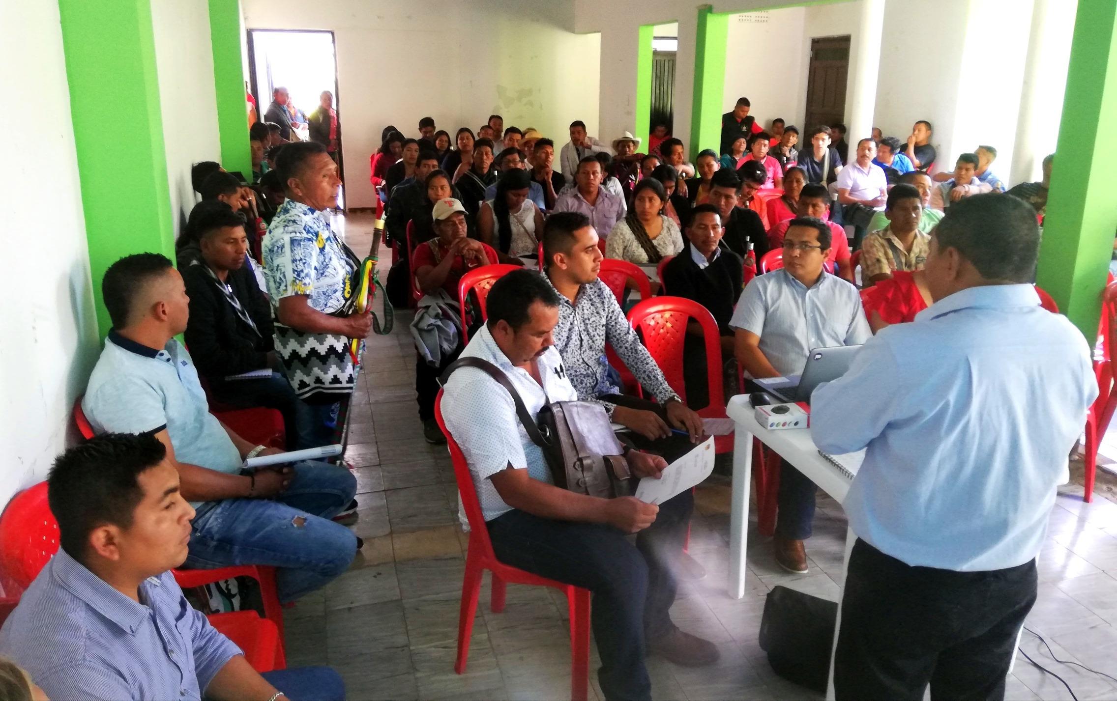 Nasa Cxha Cxha y sus Autoridades Indígenas. Primer conversatorio con el alcalde electo del municipio de Páez