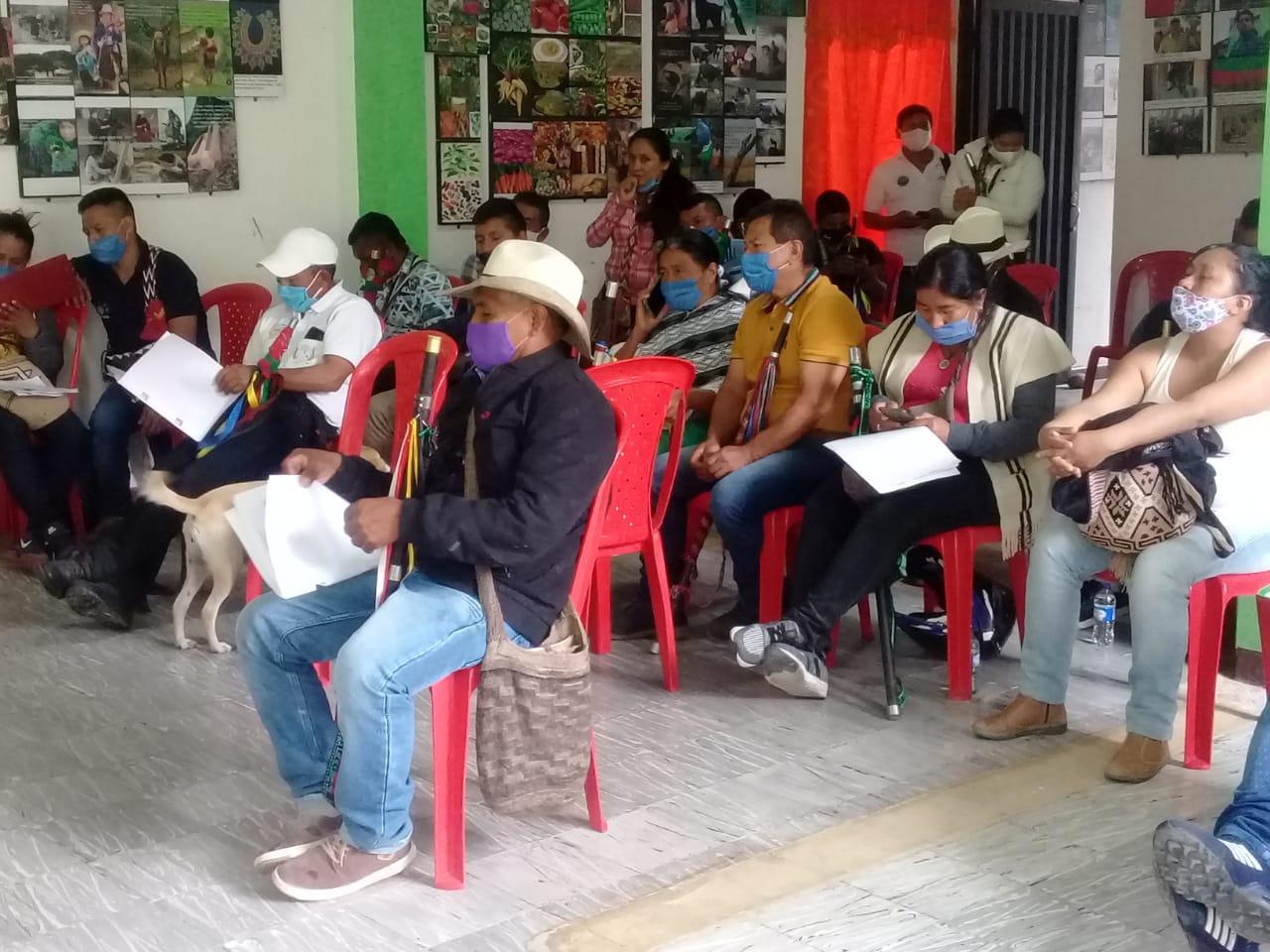 Autoridades Indígenas de Páez, Adelantan reunión presencial.