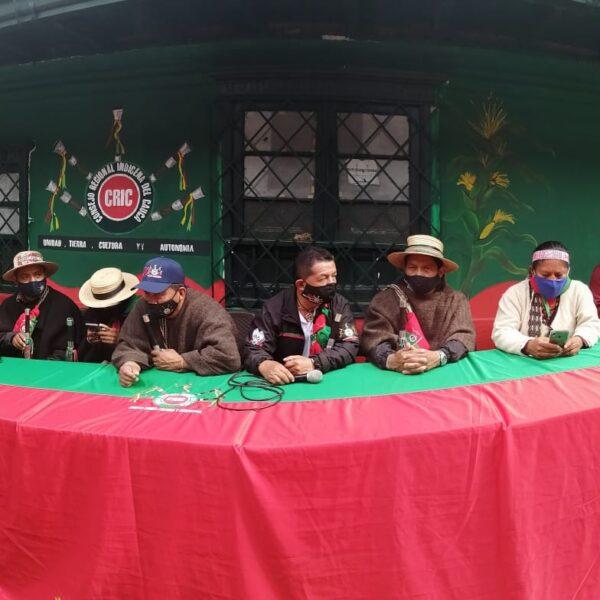 10 pueblos indígenas del Cauca, nuevamente en la capital de la república en el marco del posicionamiento del CRIC nacional.