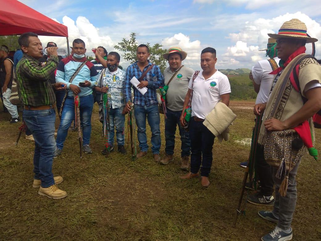 """""""Ultima""""Junta directiva ampliada del Consejo Regional Indígena del Cauca CRIC año 2020. Se realiza en el centro del Cauca."""