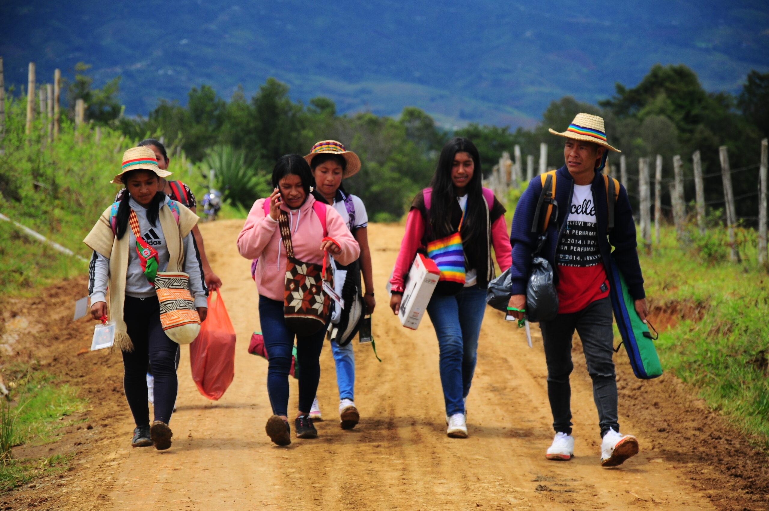 Más de 10 pueblos indígenas llegan al Pital: 50 años de resistencia CRIC