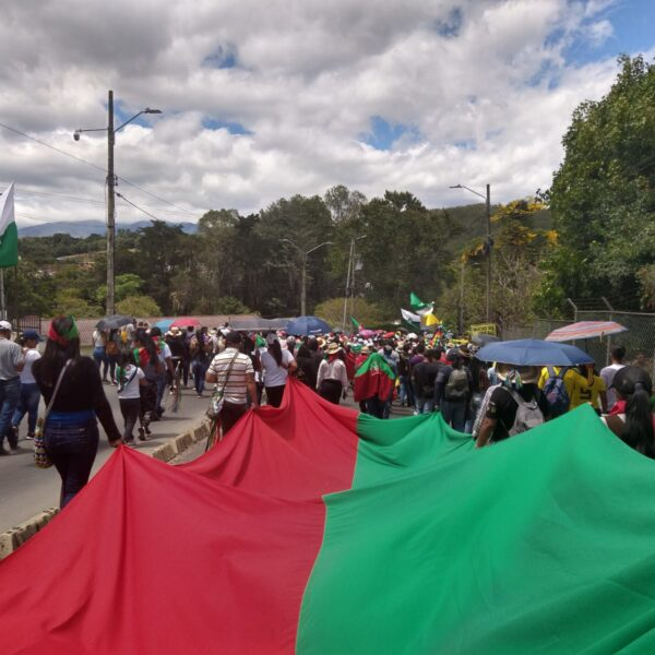 Hoy 20 de julio; Una vez más, los pueblos indígenas del Cauca salieron a las calles de las ciudades de Colombia.