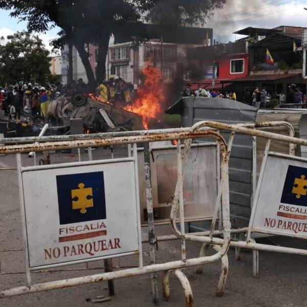 La marcha en Popayán termina con enfrentamientos con la fuerza pública