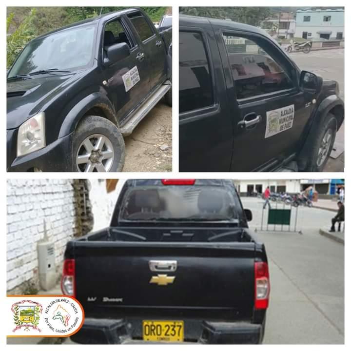 Hurtada la Camioneta de la Alcaldía de Páez
